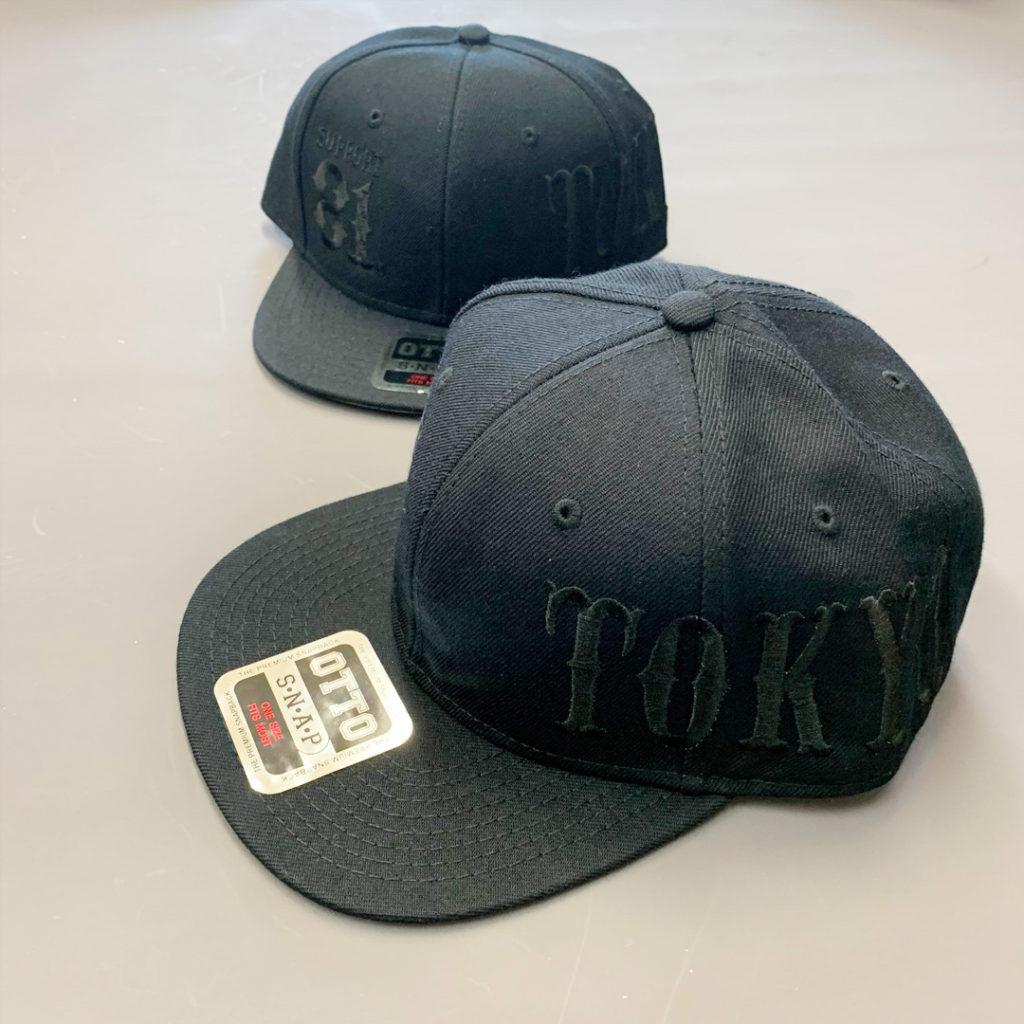 CAP BLACK×BLACK